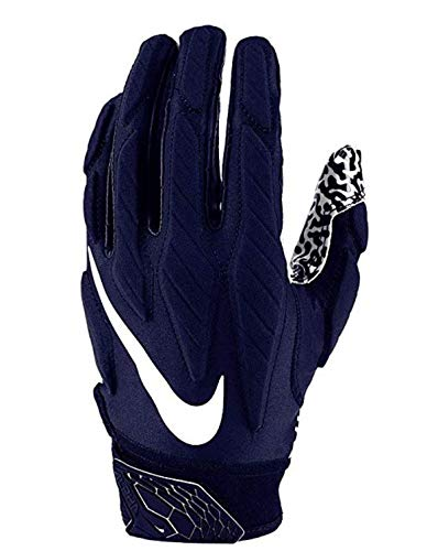 Men's Superbad 5.0 Receiver Gloves (Large, College Navy/White) (Football Gloves Nike College)