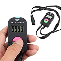hAohAnwuyg Electronic Counter£¬Portable Golf Gym Electronic Digital LCD Display Tally Counter Manual Clicker