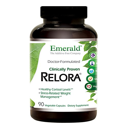 Relora - Supports Healthy Cortisol Levels, Stress Related Weight Management, Energy Boost, Supports Relief of Stress & Aniexty, Sleep Support - Emerald Laboratories - 90 Vegetable (Cortisol Control 90 Capsules)