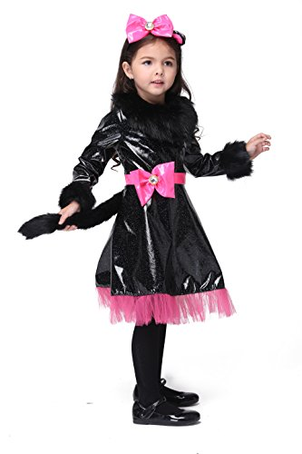 Vivihoo EK110 Halloween Party Costume Cartoon Cosplay Cat Dress For Little Girl (M) (Cute Indian Costumes For Girls)