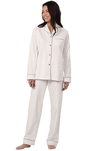 PajamaGram PJs Women Soft Jersey - Cotton Sleepwear for Women, Cream, XL, 18