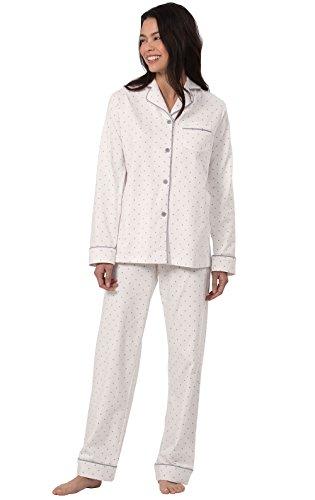 (PajamaGram PJs Women Soft Jersey - Cotton Sleepwear for Women, Cream, S,)
