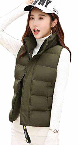 無人カフェ格納MengFan レディース ダウンベスト 冬 厚手 柔らかい ショートジャケット ノースリーブ 無地 シンプル チョッキ スリム 着痩せ ファッション アウター 韓国風 トップス カジュアル 5色5サイズ