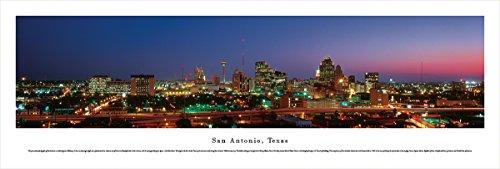 Time San Antonio Texas Usa (San Antonio, Texas - Blakeway Panoramas Unframed Skyline Posters)
