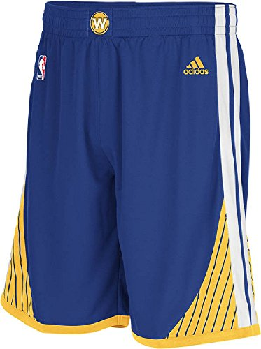 adidas Golden State Warriors Youth Blue Swingman Replica Basketball Shorts (L=16-18)