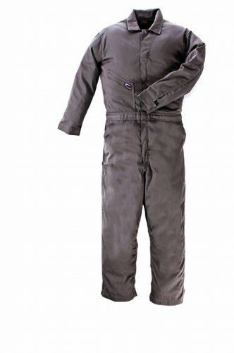 - LAPCO CVFRD7GY-LAR RG Lightweight 100-Percent Cotton Flame Resistant Deluxe Coverall, Gray, Large, Regular