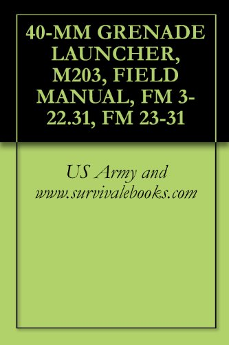 40-MM GRENADE LAUNCHER, M203, FIELD MANUAL, FM 3-22.31, FM 23-31 -