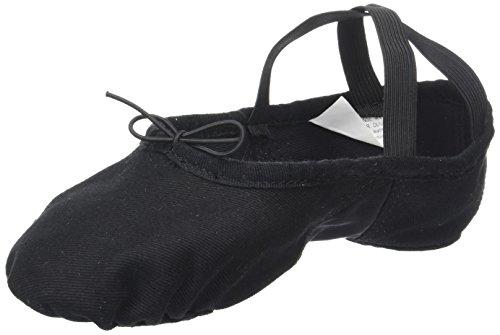 Sansha–Zapatos de Ballet Zapatillas demi-pointes adultos en lienzo modelo 1C pro1C gris medio