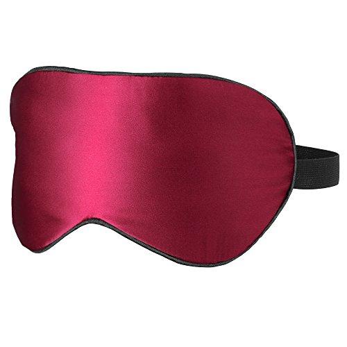 Plemo Eye Mask, Luxury Mulberry Silk Sleeping Mask Ultra-Soft Eye Cover for Bedtime & Travel (Red Eye Mask)