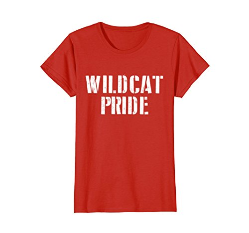 Womens Wildcat Pride T Shirt for any Sports Fan School Spirit Shirt XL Red