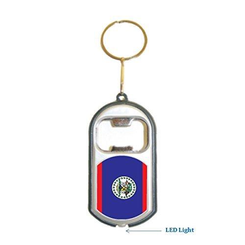 (3 in 1 Bottle Opener LED Light KeyChain KeyRing Holder - Americas (Country:)