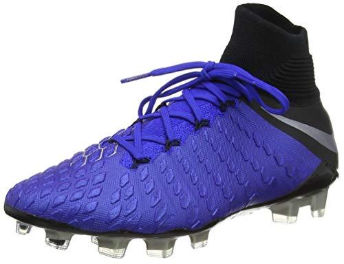 Nike Hypervenom Phantom III Elite Dynamic Fit Soccer Cleats (M10/W11.5, Blue/Silver)