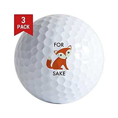 CafePress - For Fox Sake - Golf Balls (3-Pack), Unique Printed Golf Balls