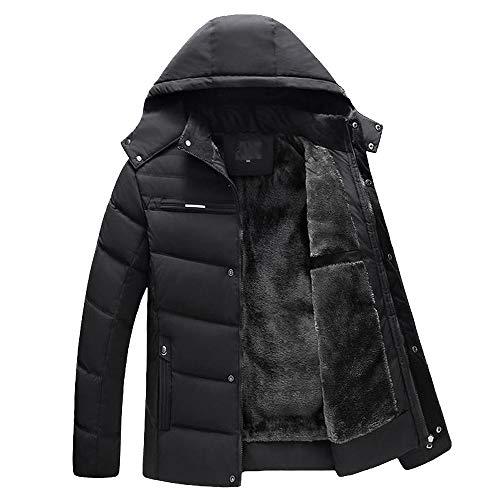 Men's Fleece Hooed Hoodies Thick Wool Warm Winter Jacket Pullover Full Zip Warm Thick Coats by Sinzelimin Men's Top