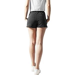 Urban Classics Ladies Acid Wash Terry Hotpants Shorts Donna