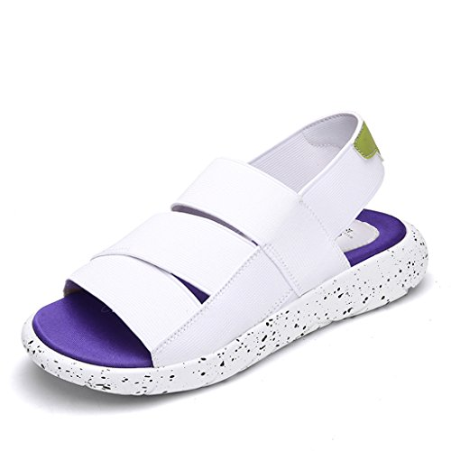 Roman White Casual Female Summer 38 Student Size Beach Flat ZCJB Sliver Sandals Women's Shoes Color Shoes wpZzqc1x