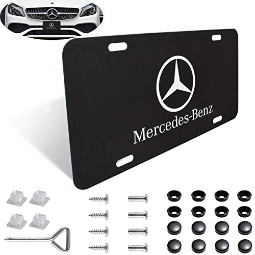 Heavy-Duty and Sturdy License Plate Cover, not Ordinary Thin Iron, Stainless Steel License Plate Cover for Mercedes Benz,Mercedes Benz Logo License Plate Frame
