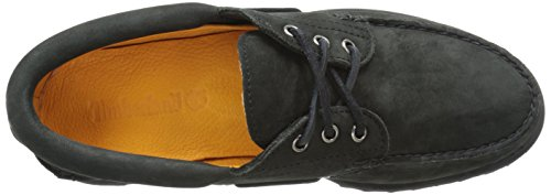 Herren Bootsschuhe Authentics 3-Eye Classic black Nubuk, Black Nubuck, 41 EU