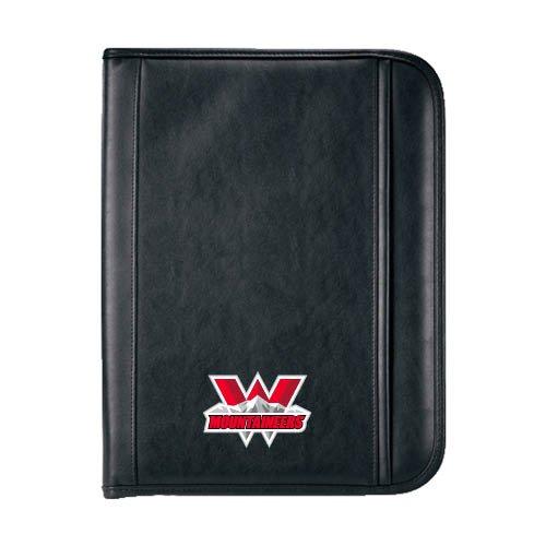 Western Insight Calculator Padfolio 'Interlocking W Mountaineers - Official Logo'