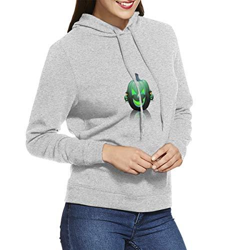 Womens Hoodies Green Pumpkin Decoration Trendy Sweatshirts Hoodie Long Sleeve Shirt]()