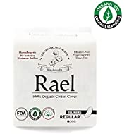 Rael Certified Organic Cotton Panty Liners, Regular - 2Pack/40 total - Unscented Pantiliners - Natural Daily Pantyliners (2 Pack)