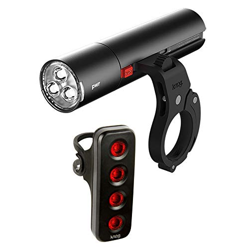 KNOG PWR Road 600L Bike Headlight and R70 Rear Tail Light Pair, Commuter Cyclist's Safety Kit