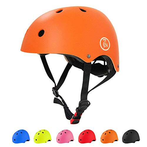 (67i Adult Skateboard Helmet CPSC Certified Adult Bike Helmet Adjustable and Protection for Multi-Sports Cycling Skateboarding Scooter Roller Skate Inline Skating Rollerblading Longboard (Orange) )