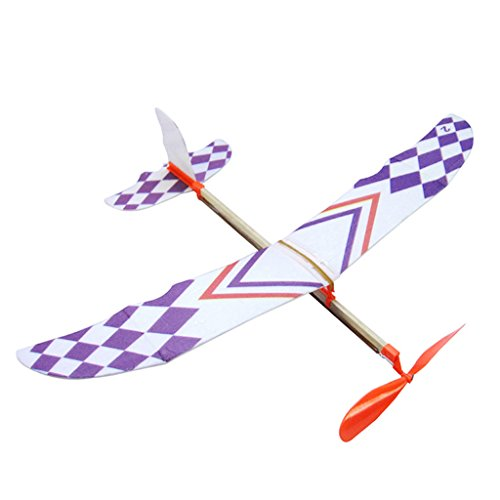 Richi Rubber Band Powered Glider Flying Plane Airplane Model