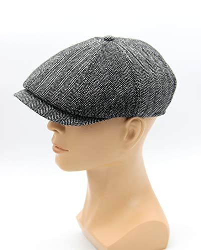 ce5fd7678ab89d Hat type Newsboy Cap or Jay Gatsby, Men's Newsboy Cap in Grey Tweed, Newsboy