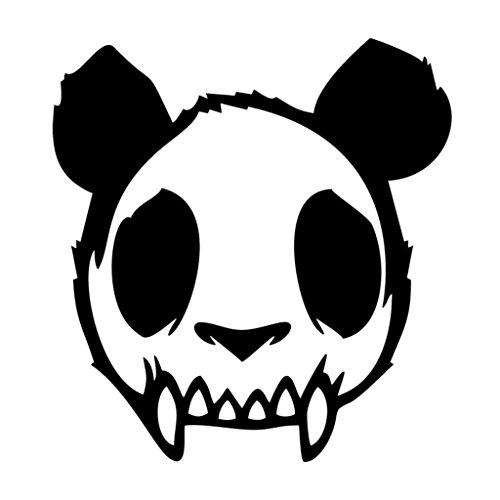Zombie Panda JDM Vinyl Decal Sticker | Cars Trucks Vans Walls Laptops Cups | Black | 5.5 inches | KCD1323