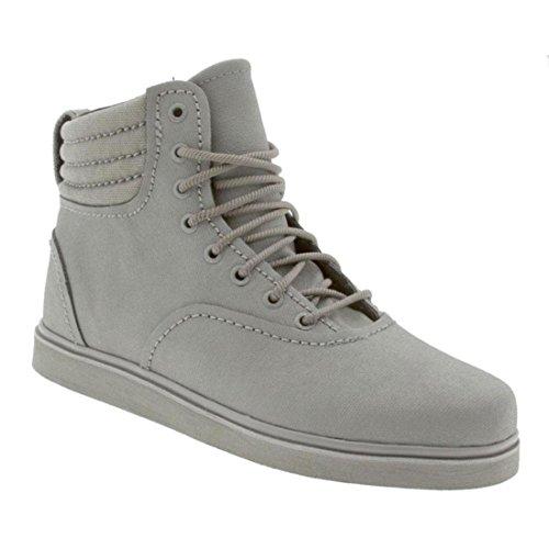 Grey Grigio Waxed Henry Shoes Supra Canvas Eq1HWX