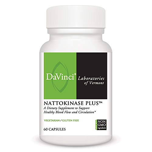 DaVinci Laboratories Nattokinase Plus, Serrapeptase Supplement with Rutin, 60 Vegetarian Capsules