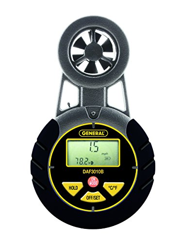 General Tools DAF3010B Airflow Seeker Digital Airflow Meter (Digital Air Flow Monitor)