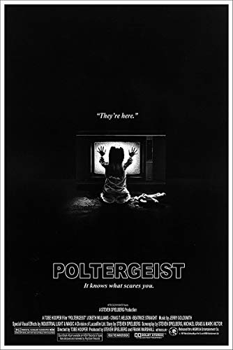 (American Gift Services - Vintage Black and White Horror Movie Poster Poltergeist - 24x36)