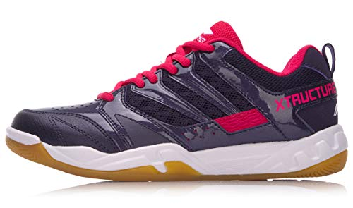 LI-NING Striker Women Professional Badminton Shoes Lining Breathable Lightweighted Wearable Sneakers AYTN042