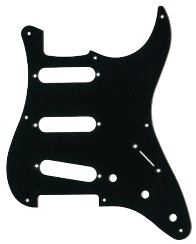 - MIJ Pickguard for Stratocaster '57 Black 1Ply fa-pg-st57-b1