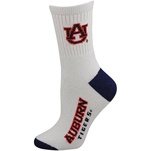 Auburn Tigers White Crew 506 Socks Large Mens
