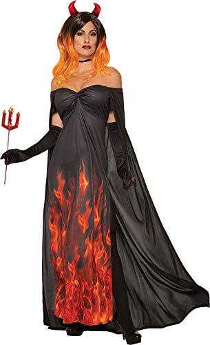 (Bristol Novelty Ladies Elegant Devil Costume Halloween Fancy Dress UK Size)