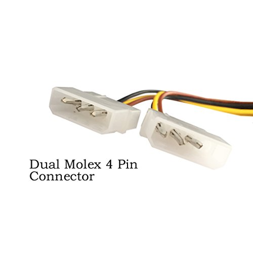 9daysminer 2-pack Dual 4 Pin Molex IDE to 6 Pin PCI Express Y Molex IDE Power Cable Adapter Connector (Male to Female) by 9daysminer (Image #4)