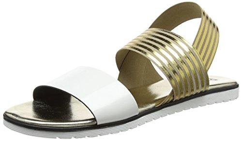 Delle oro 10a Indietro W Sandali Multicolore sandal El bian Donne Sling Pollini HwpnR6ERq