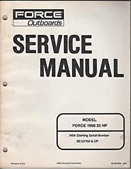 1996 force outboard motor 25 hp service manual new manufacturer rh amazon com Outboard Engine Wiring Diagram Yamaha Outboard Engine Diagram