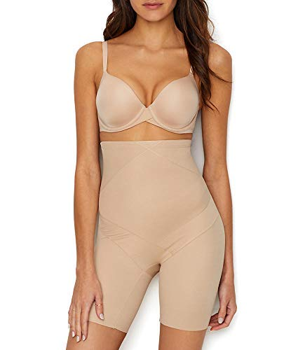 Miraclesuit Shapewear Women's Tummy Tuck High-Waist Thigh Slimmer Nude Small