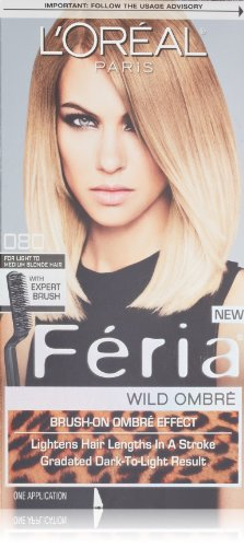 L'Oreal Feria Wild Ombre Hair Color, O80 Light to Medium Blonde