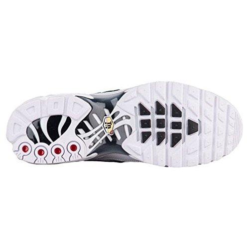 Nike Mens Air Max Plus Scarpe Da Corsa In Nylon Bianco / Nero / Bianco