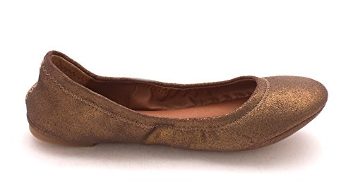 free shipping big discount Lucky Women's Emmie Ballet Flat Brown/Bronze Metallic Powder low shipping fee 4cJyA9m