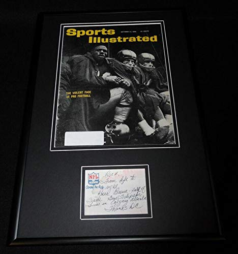 Don Chandler Signed Framed Note & 1960 Sports Illustrated Cover Display Giants - Autographed NFL Magazines