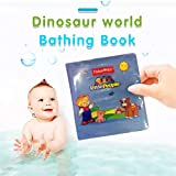 Ecurson ♚Bath Toys for Toddlers Colorful Floating ,⭐Cognitive Animal⭐,Rod in Bathtub Pool Shower Kit Bath Time for Baby Children Kids Infants Girls and Boys
