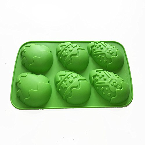 - X-Haibei Easter Egg Chicken Rabbit Chocolate Soap Plaster Silicone Mold Supplies