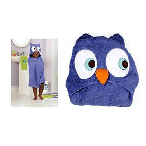 Whooty Hoot Purple Owl Hooded Bath Towel
