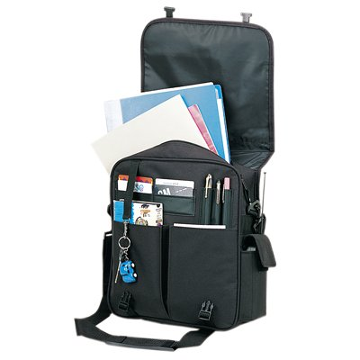 Inner special po-Black Yens Fantasybag Courier Briefbag Durable leatherette